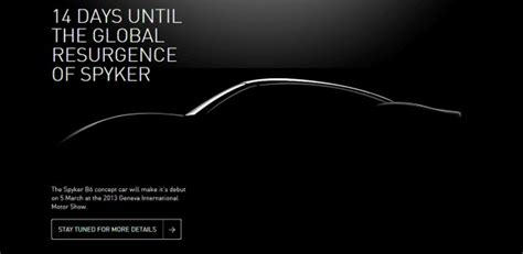 teaser car spyker drops new teaser for b6 concept geneva motor show