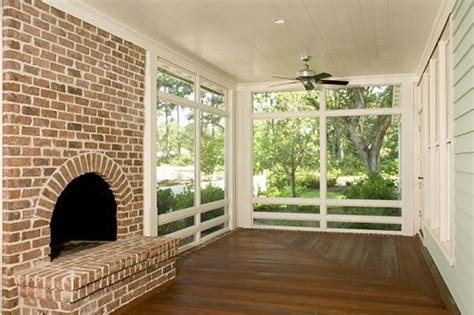 awesome screened porch with fireplace house beautiful
