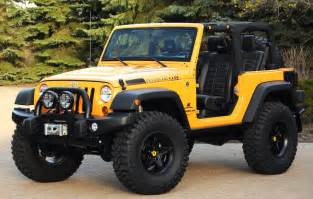 Jeep Wrangler Rubicon 2 Door Yellow 2 Door Lifted Rubicon Jeep Wrangler No Top With A