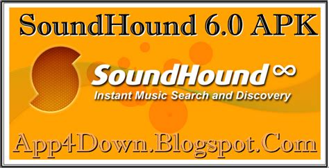 soundhound apk soundhound 6 0 for android apk app4downloads app for downloads