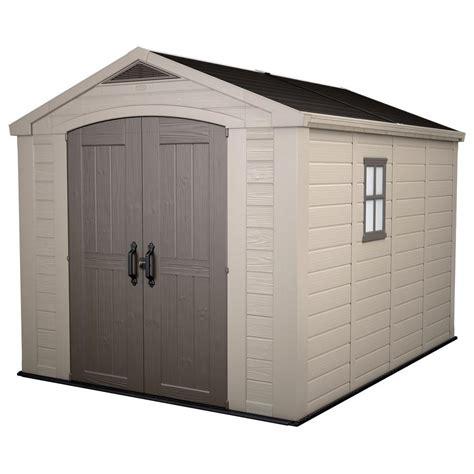 keter factor  ft   ft plastic outdoor storage shed