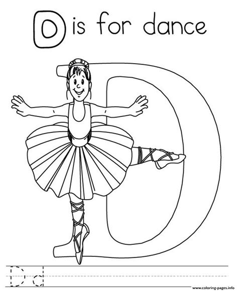 color d printable alphabet s letter d for dance0e7e coloring pages
