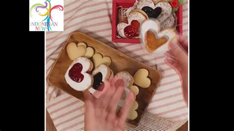 youtube tutorial kue buat kue sandwich selai untuk tema valentine tutorial