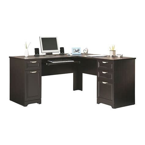Realspace Magellan L Shaped Desk And Hutch realspace 174 magellan collection l shaped desk 30 quot h x 58 3 4 quot w x 18 3 4 quot d espresso in my office