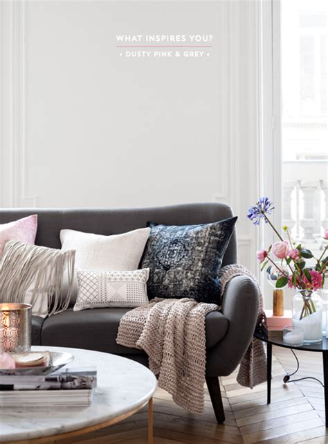 Dusty Pink Living Room by Colour Inspiration Dusty Pink Grey Interiors Bright