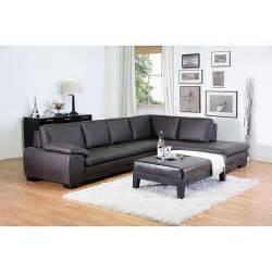 diana brown leather sectional sofa set 10511277 - Diana Brown Leather Sectional Sofa Set