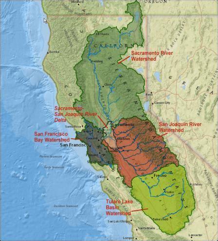 san francisco river map san francisco bay watershed
