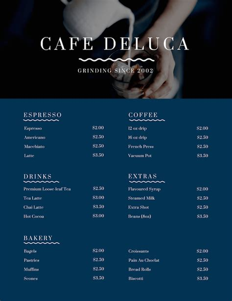 restaurant menu maker design custom menus canva
