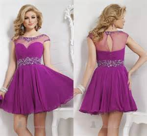Cheap Wedding Dresses Under 100 Purple Prom Dresses Short Homecoming Dress Mini Beads Crystal Party Dress A Line Evening Gowns