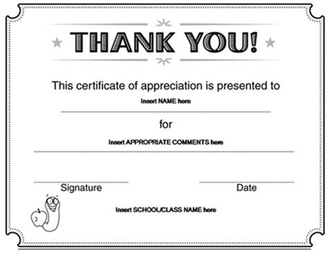 thank you certificate templates free thank you certificate