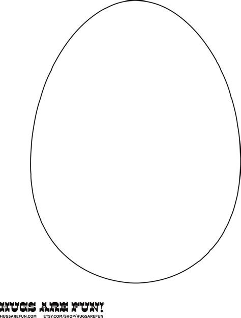 easter egg template sle easter egg template free