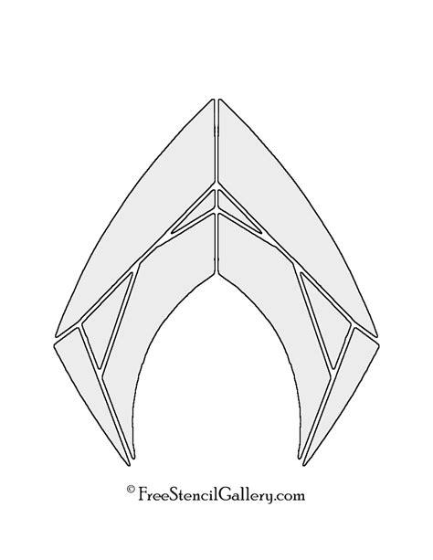symbol template aquaman symbol stencil free stencil gallery