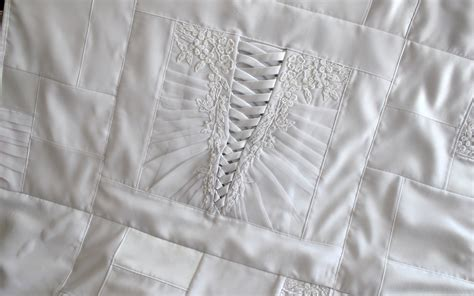 Wedding Dress Quilt Pattern by Wedding Dress Quilts The Patchwork