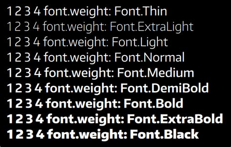 typography weight qt qml not using thin font weight stack overflow