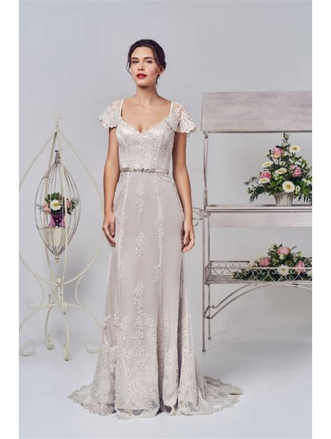 Phoenix Gowns Soft Lace Overlay Bridal Dress Ivory 14652