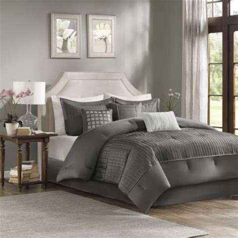 7 piece king size bedroom sets king size gray textured comforter set 7 piece bed bedding
