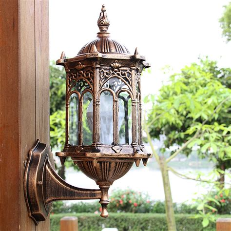 outdoor bronze antique exterior wall light fixture