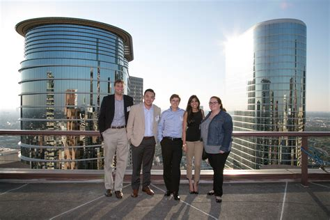 Houston Downtown Mba by Mba Students Socialize Downtown At 43rd Restaurant Oct