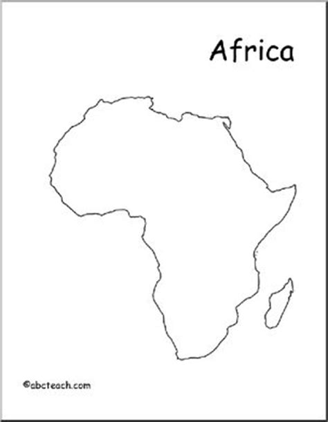 World Atlas Outline Map Of Africa by Map Africa Outline Abcteach