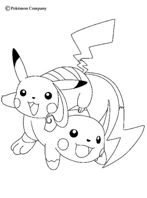 raichu coloring page raichu and pikachu coloring pages hellokids