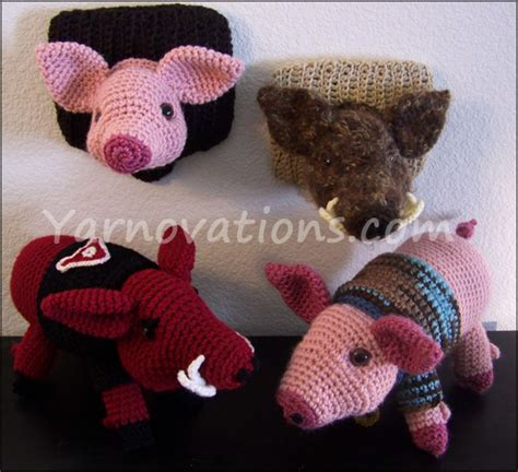 pattern crochet pig pig and wild boar crochet pattern pork chop