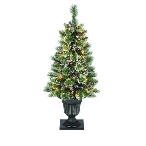 7 fr martha stewart slim christmas tree martha stewart living 4 ft indoor pre lit glittery bristle pine artificial entrance