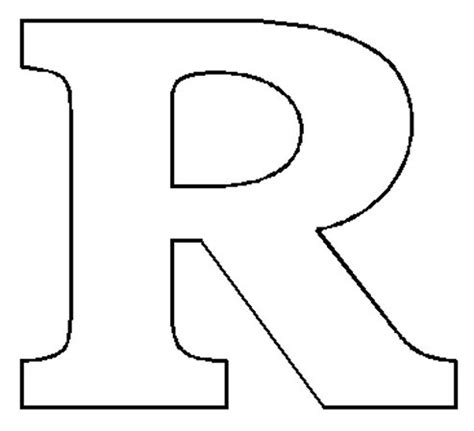 letter r template alphabet numbers block patterns
