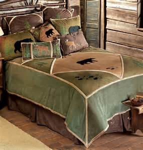 Green And Brown Duvet Cover Rustic Home Decor Bedding