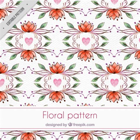 watercolor floral pattern vector free download decorative watercolor floral pattern in vintage style