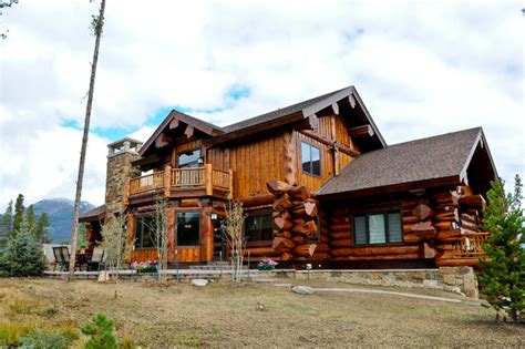Home Design Exteriors Denver by Western Red Cedar Ranch Style Log Home Rustic Exterior