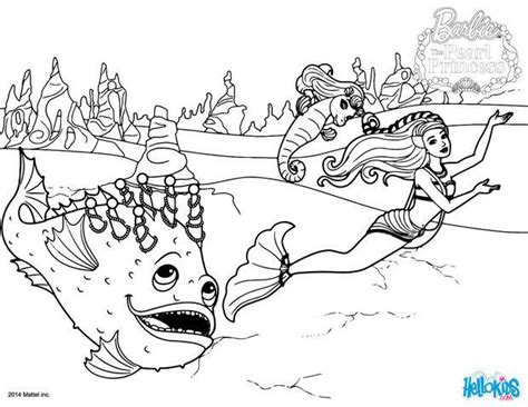 Spike The Stonefish Coloring Pages Hellokids Com Pearl Princess Coloring Pages