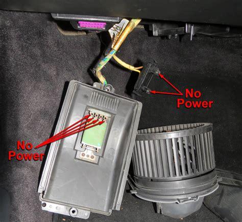 heater fan not working interior heater fan blower not working no power 986