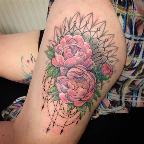 peony flower tattoo gallery for gt pink peony flower