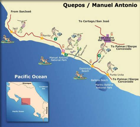 catamaran adventures quepos quepos map costa rica atv quad adventure