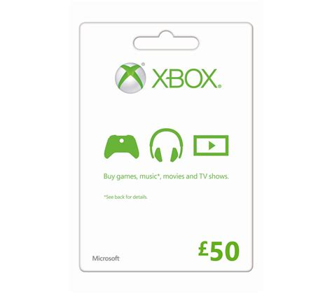 Microsoft Xbox Gift Card - microsoft xbox live gift card 163 50 deals pc world