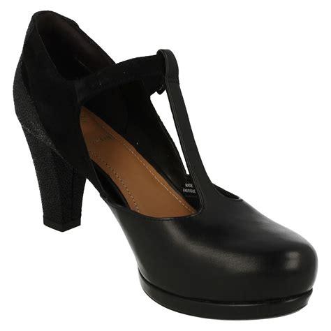 Clars High clarks high heel t bar shoes style chorus ebay