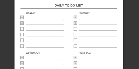 Every To Do List Template You Ll Ever Need Daily To Do List Template