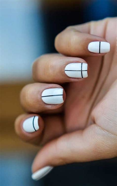 geometric pattern nails really stylish geometric nail designs