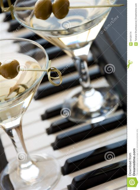 martini two two olive martini cocktails stock photo image 64120174