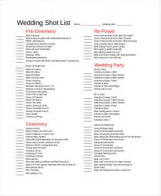 Wedding Photo Shot List Template Shot List Template 10 Free Word Pdf Psd Documents