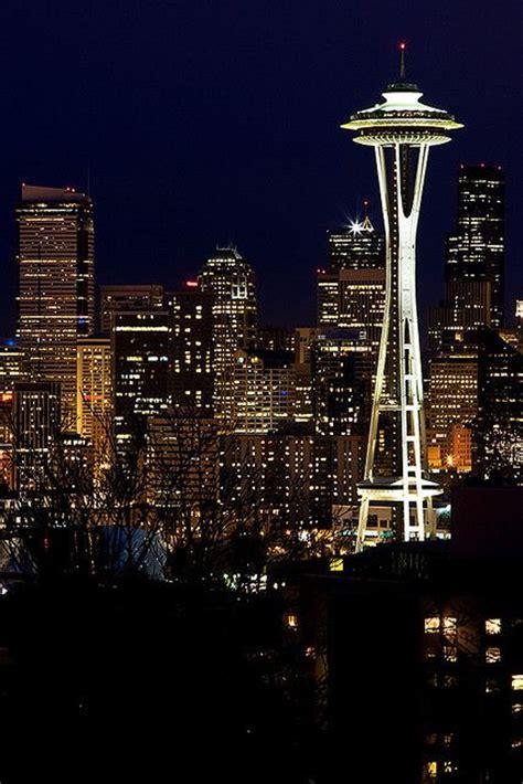City Lights Space Needle Seattle Washington By Best Lights Seattle