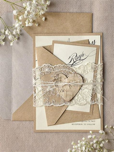 100 wedding invitations custom listing 100 rustic lace wedding invitation calligraphy wedding invitations recycled