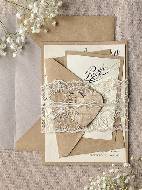 Wedding Budget 100 Juta by Custom Listing 100 Rustic Lace Wedding Invitation