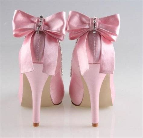 handmade soft pink bow wedding shoes shoes