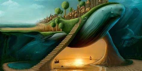 Dunia Paralel surreal stairways cover background twitrcovers