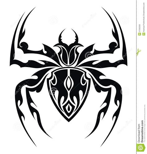 spider tattoo stock vector image of white cross scary