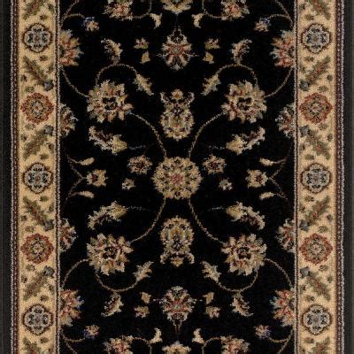 black patterned runner trafficmaster canyon kazmir black 26 in x your choice