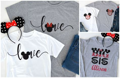 Mickey Mouse Minnie Mouse Disney A83 Kaos Family T Shirt groopdealz custom mickey minnie inspired shirts for the family