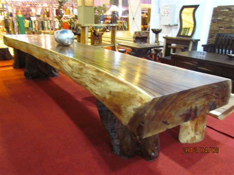 Meja Kayu Kelengkeng meja trembesi solid dan alami 4 75m x 80cm x 20cm crown