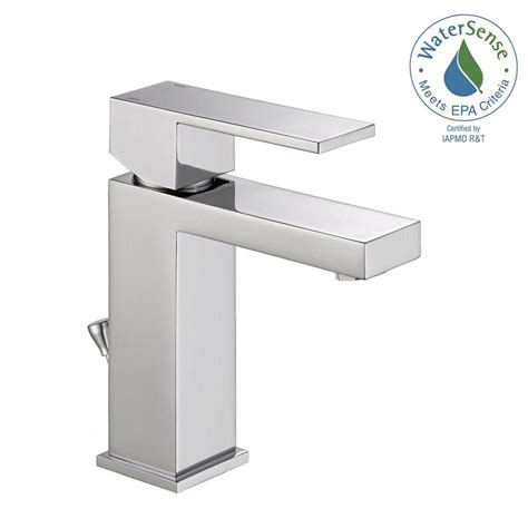 Bathroom Faucet Modern Delta Modern Single Single Handle Bathroom Faucet In Chrome 567lf Pp The Home Depot